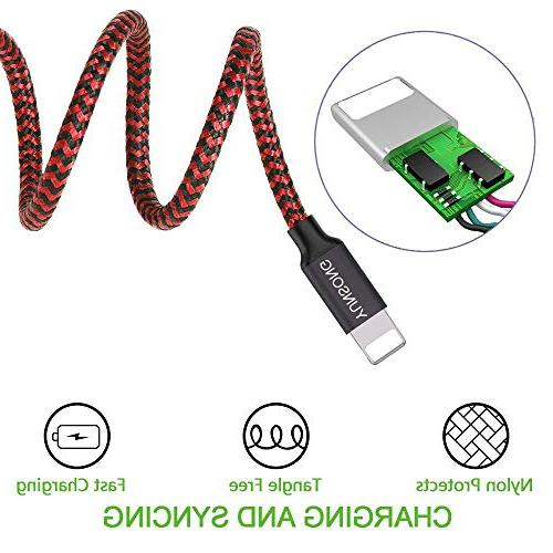 YUNSONG Phone Charger Nylon Braided Cord Cable Charger Compatible with MAX 7 6s 6 SE 5