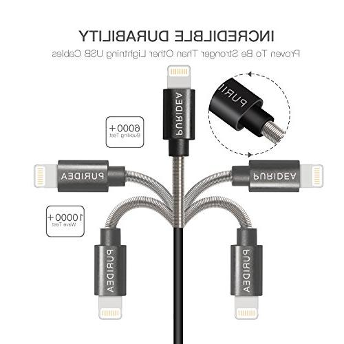 Cable, Lightning Certified Cord X 7 6S 6 Plus iPad 3 Pro Air, iPod