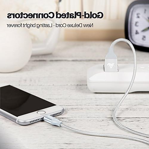 iPhone Lightning Cable, Safety Ultra with iPhone Plus/ 7/7 Plus Plus/5s-silver