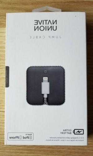 jump cable 2 in 1 lightning charging