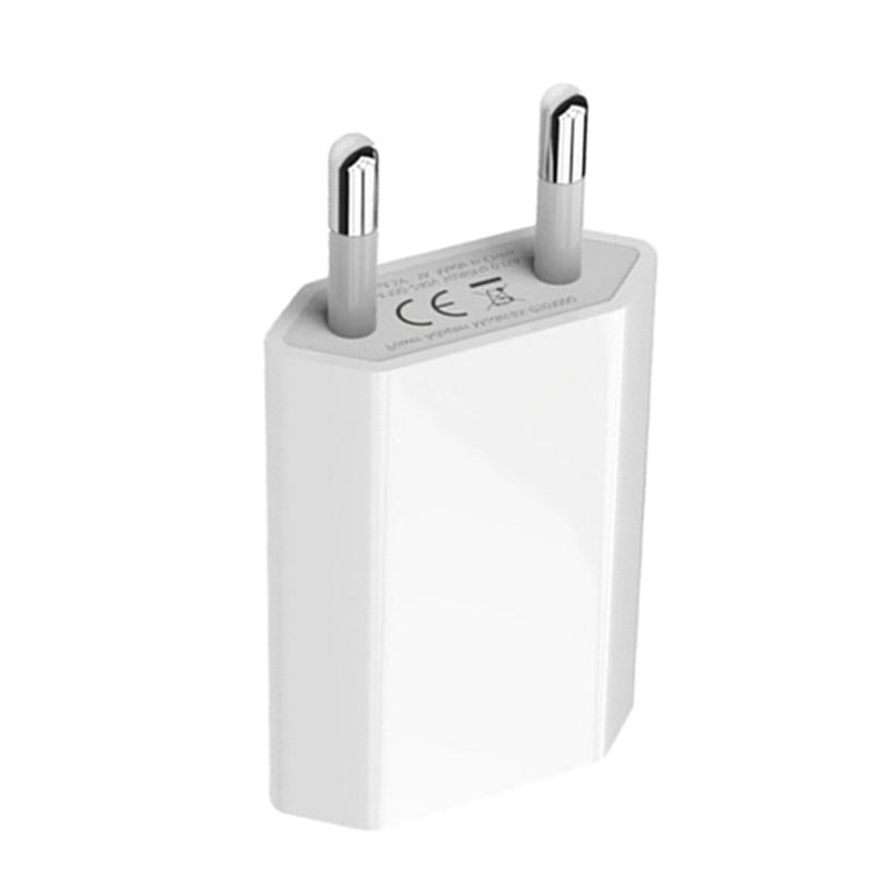 Kit <font><b>USB</b></font> <font><b>Cable</b></font> + Plug Charger <font><b>For</b></font> 7 8 X XS 11 5S 6S Charging <font><b>Cable</b></font> EU Travel <font><b>Wall</b></font> Charger