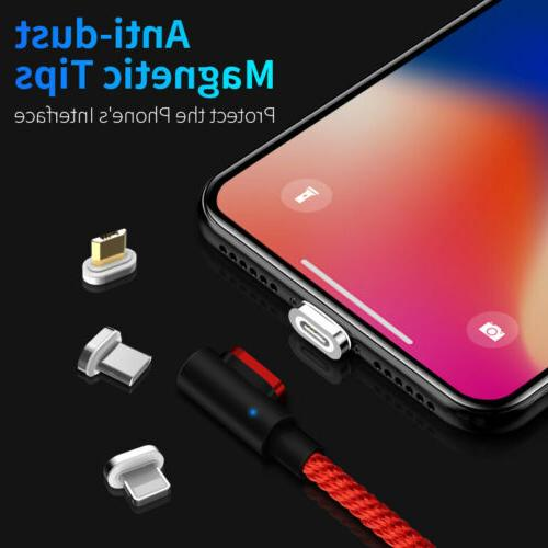 LED Magnetic Charger Type C Fast Charging Android