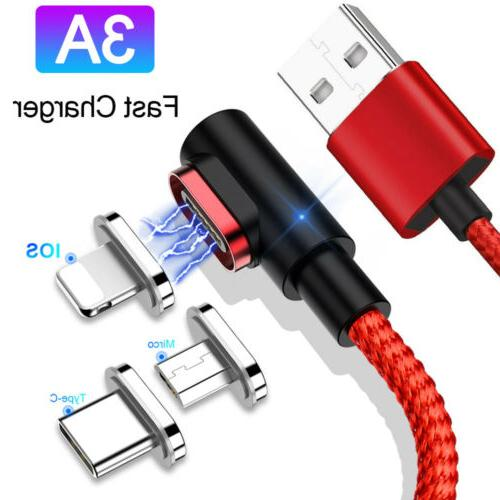 led magnetic charger type c micro usb