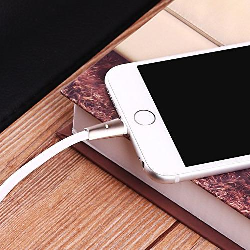 Aimus 6FT Cable, Fast Charger LED Light Data Cable Line Gaming Charging Cable Plus/7/7 iPad iPod- White