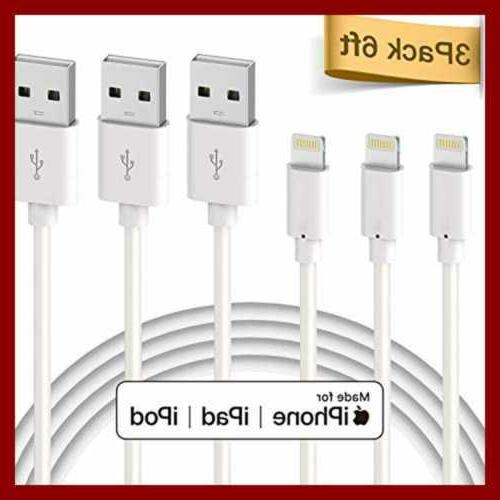 Lightning Cable Apple Certified 3Pack 6Ft To 6Ft WHITE