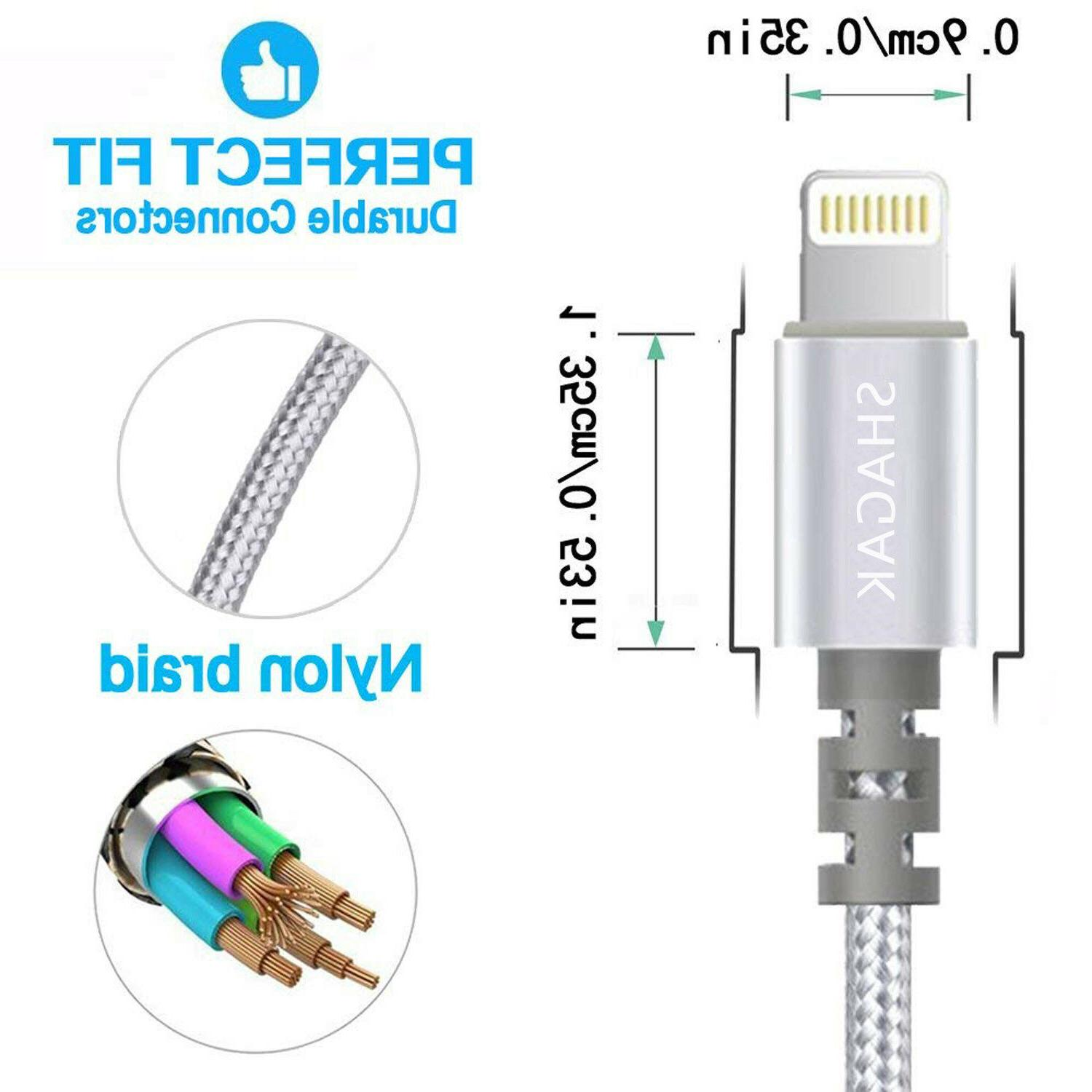 3 6 Ft iPhone 7 6 Charging Cord USB