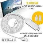 Lightning To HDMI HDTV AV Adapter Cable For iPhone 7 6 5 And