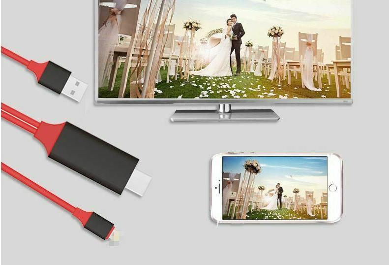 Lightning to AV Charger Cable 1080P for iPhone 6 7 X