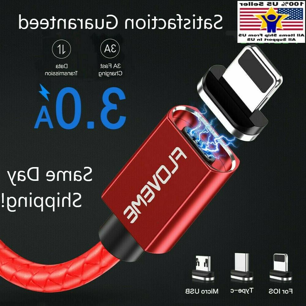 magnetic charger lighting micro usb type c