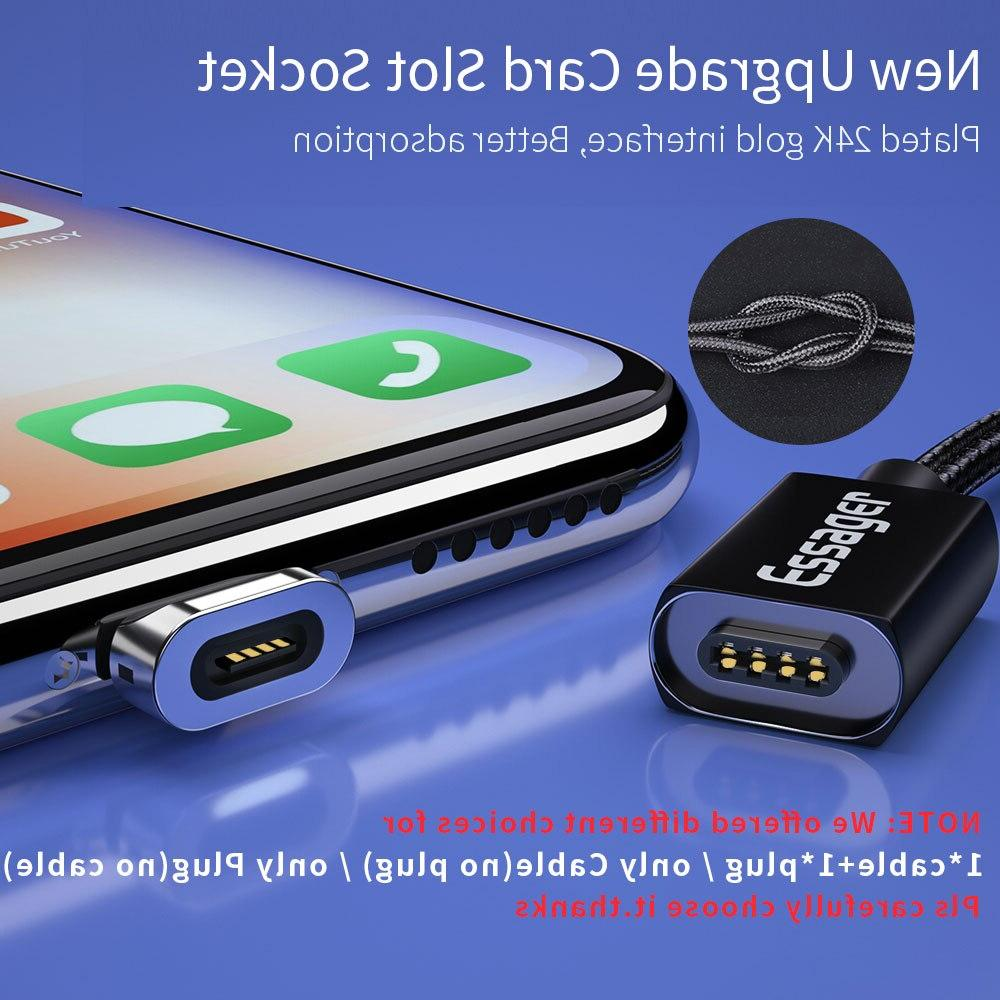Essager Magnetic Micro <font><b>Cable</b></font> For Fast Data Cord Charger USB Type C 3m Mobile Phone <font><b>Cable</b></font>