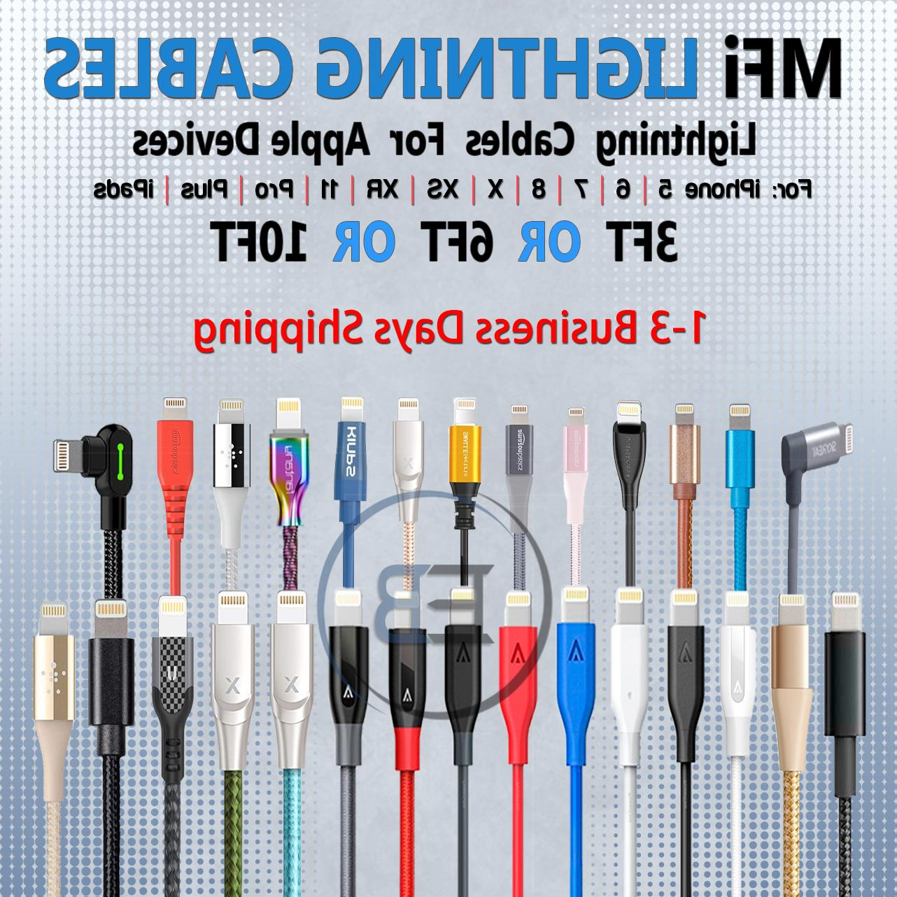 mfi lightning cable 3ft 6ft 10ft