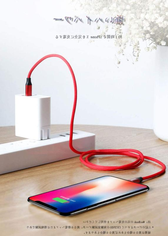 Mini Short iPhone Charger Cable Fast Charging Cord 3Pack 0.8FT