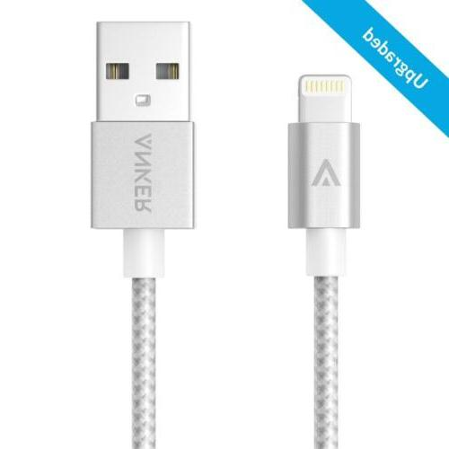 Anker Nylon USB Cable with Connector iPhone 6s 6 Plus