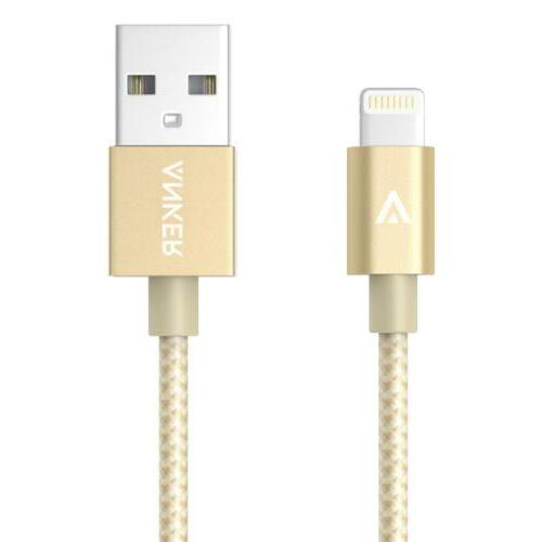 Anker 6ft Nylon Braided USB Cable with Lightning Connector f