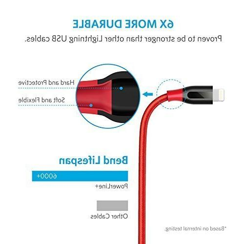 Anker Cable Durable Cable Max/XR/X / 6/6 Plus / / iPad and More