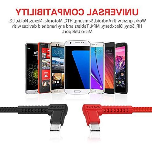 Right Android Charging 2Pack - Degree Nylon Braided for Samsung Galaxy, Motorola, Smartphones, and