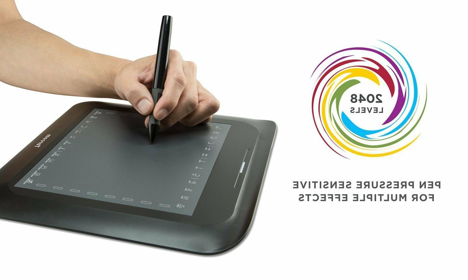 Turcom TS-6608 Graphic Tablet Drawing Tablets for