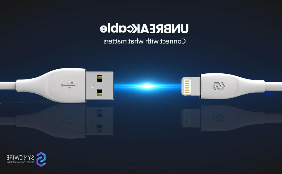 unbreakcable lightning cable iphone charger mfi