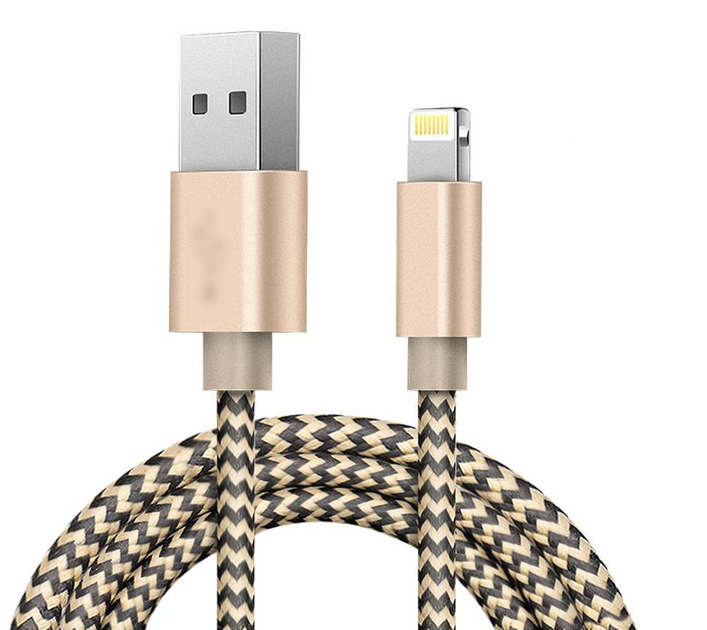 Braided USB Charger for iPhone 8 Plus XS 10FT