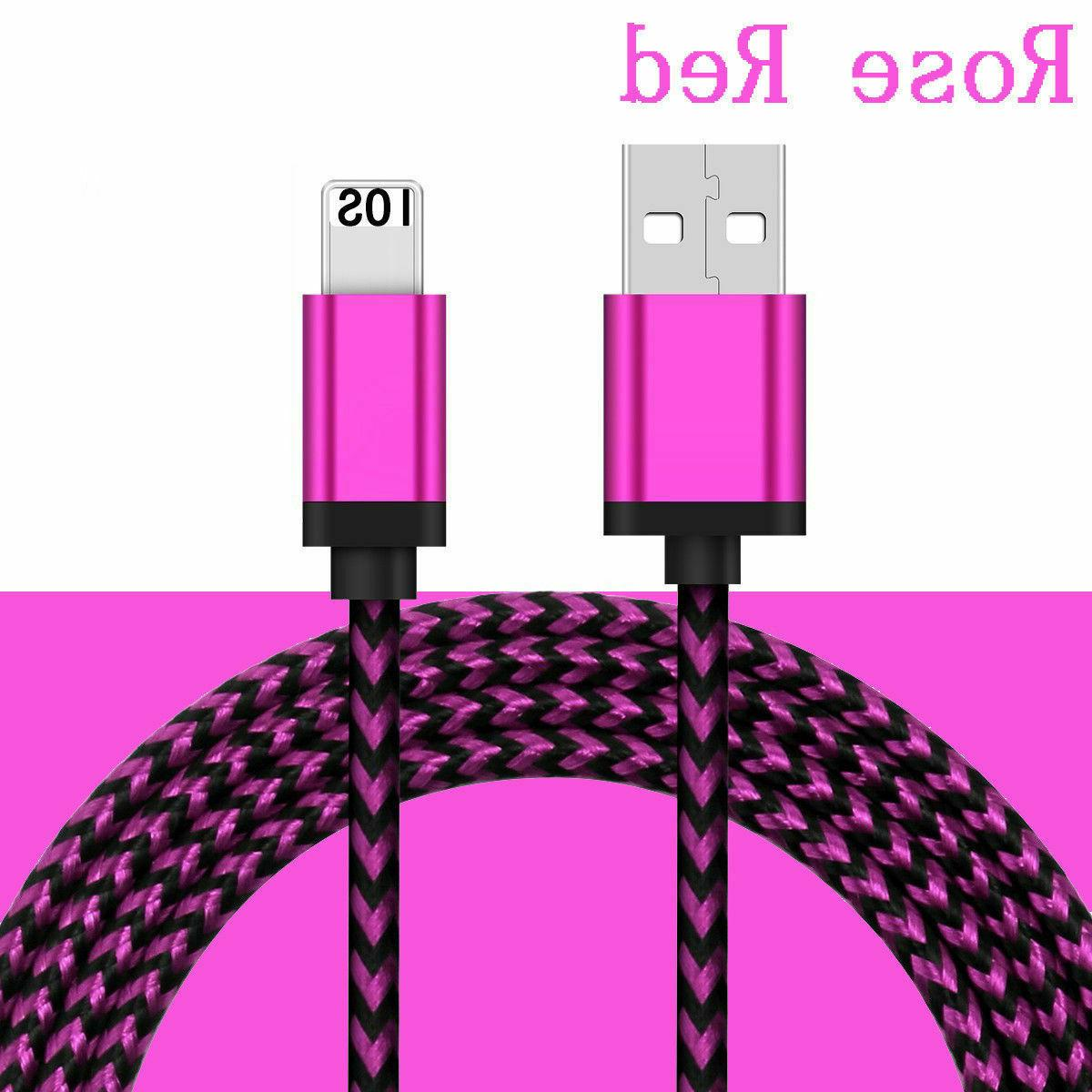 Braided USB Charger 8 XS MAX 3FT 10FT