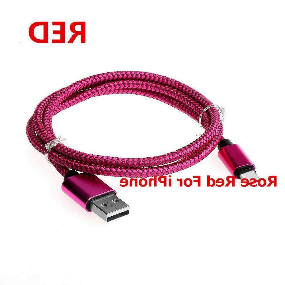 Braided USB for iPhone 6 8 Plus Lightning XS 6FT 10FT