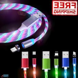 Light Up Magnetic Phone Charger Cable LED USB Adapter Cord i