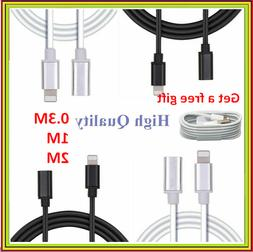 Lightning 8 Pin Male to Female Extension Adapter Cable Cord