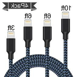 Lightning Cable, Iseason iPhone Charger Cables 5Pack 3FT 3FT