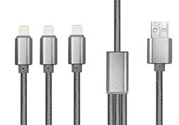 Lightning Cable, 3 in 1 USB Charging Cable wth 3 cords for i