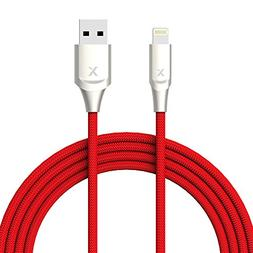Xcentz Lightning Cable 6ft, MFi Certified iPhone Cable, Prem