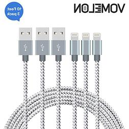 Lightning Cable,  Tangle-Free Nylon Braided Cord Lightning t