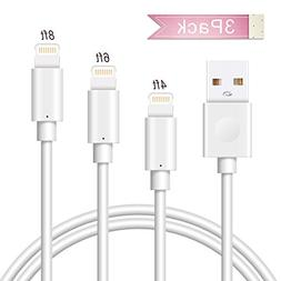 Lightning Cable LUXEAR Charging Cable Cord 3Pack 4FT 6FT 8FT