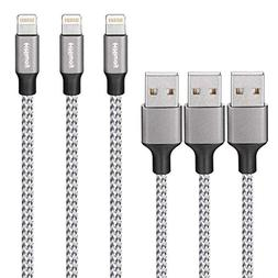 Hiway Nylon Braided USB Cable 3PACK  phone charger Fast Char