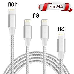 AOFU Lightning Cable,iPhone Cable iPhone Charger 4Pack 3FT 6