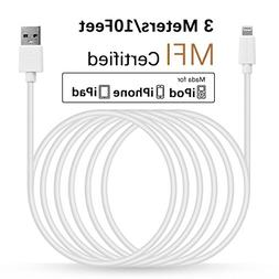 LINKPIN 10ft  Lightning Cable  Sync and Fast Charging for iP
