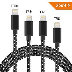 Lightning Cable,  Charge Cable Nylon Braided 8 Pin USB Char