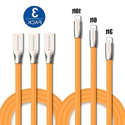 Lightning Charger Cable for iPhone 3Pack 3FT/6FT/10FT USB ch