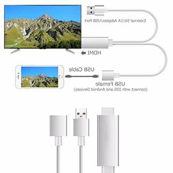 HonsCreat Lightning to HDMI Adapter Cable, 1080P MHL to HDMI