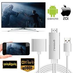 Lexsong Lightning to HDMI Cable USB to HDMI Adapter&3.5mm Au