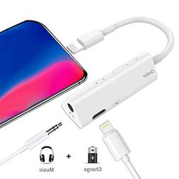 Lightning to 3.5 mm Headphone Jack Adapter,Onlier Iphone 8 A