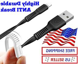 Lightning iPhone charger cable 3ft Flat Anti Break Fast Char