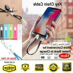 TPE keychain Micro USB C iphone Type C Cable fast Charging C
