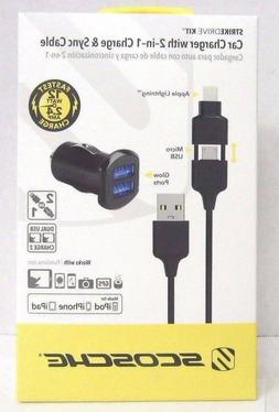 SCOSCHE Lightning and Micro-USB 2 in 1 Charge and Sync Cable