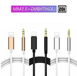 Adapter to 3.5mm AUX Audio Jack Car Adapter Cable Cord For i