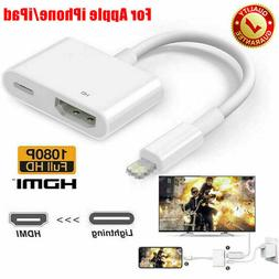 Lightning To HDMI Digital AV TV Cable Adapter For iPhone 6 7