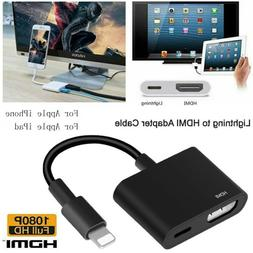 Lightning to HDMI Digital TV AV Adapter Cable For iPad iPhon