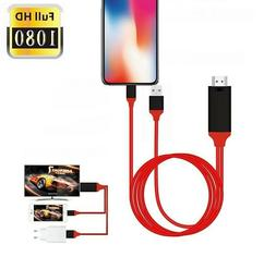 Lightning to HDMI TV 1080P AV Adapter Cable for iPad iPhone
