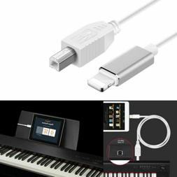 Lightning to Type-B MIDI Keyboard Converter USB 2.0 Cable fo