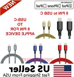 8 PIN to USB-C Charger Cable For iPhone 11 12 Pro Max Macboo