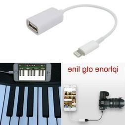 Lightning to USB Camera Connector Adapter Cable OTG For Appl